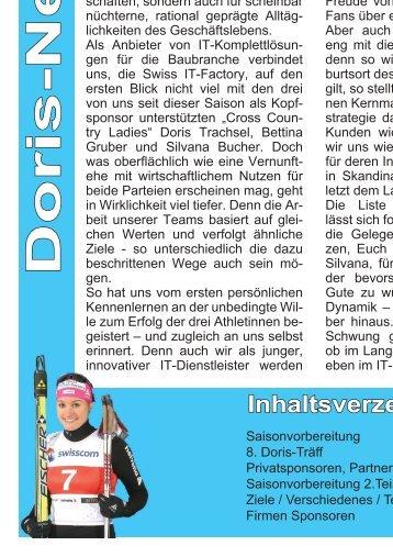 Saison 2010 / 2011 - Doris Trachsel