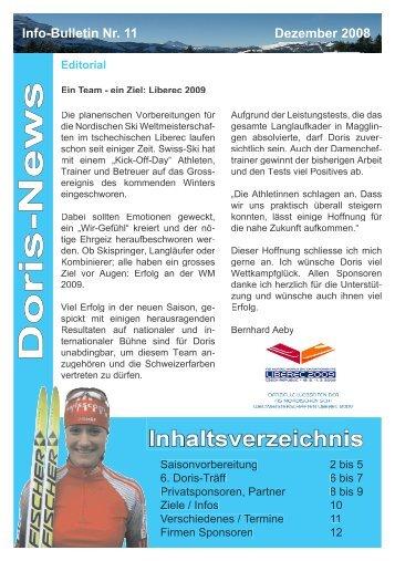 Doris-News Inhaltsverzeichnis - Doris Trachsel