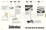 Suzuki - Zeitreise durch 100 Jahre