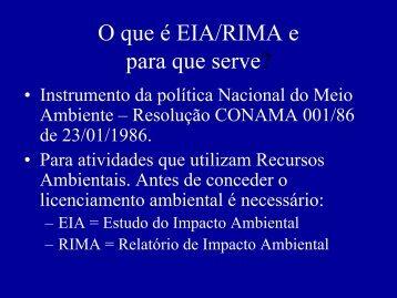 • Instrumento da política Nacional do Meio Ambiente ... - USP