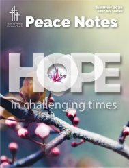 Peace Notes Summer 2020 - Word of Peace Lutheran Church