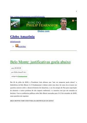 Globo Amazônia - Philip M. Fearnside - Inpa