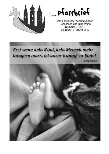Pfarrbrief 21.pdf - Pfarrverband Schöllnach-Riggerding-Außernzell