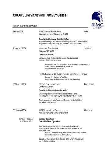 CV Hartmut Geese - RIMC Austria