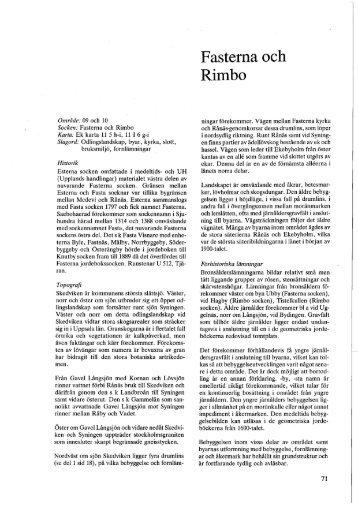 Område: 09 och 10 Socken: Fasterna och Rimbo Karta: Ek karta 11 ...
