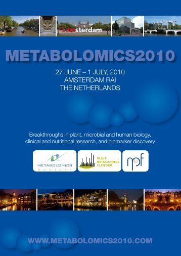 Book of abstracts - Metabolomics 2010