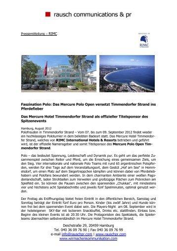 Martina Rausch - RIMC International Hotel Resort Management ...