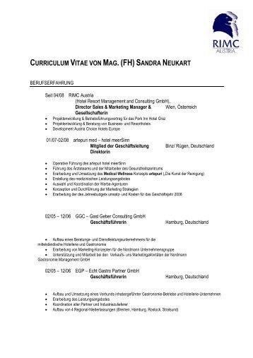 CV Sandra Neukart - RIMC Austria