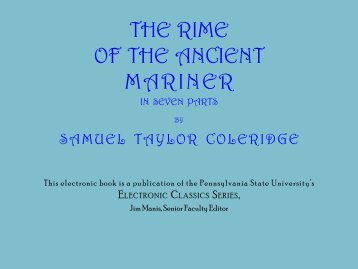The Rime of the Ancient Mariner - Pennsylvania State University