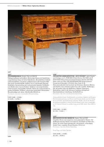 | 152 Möbel & Antiquitäten | Möbel, Uhren ... - Koller Auktionen