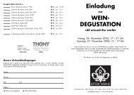 Einladung zur WEIN- DEGUSTATION «All around ... - Ritter Weine AG