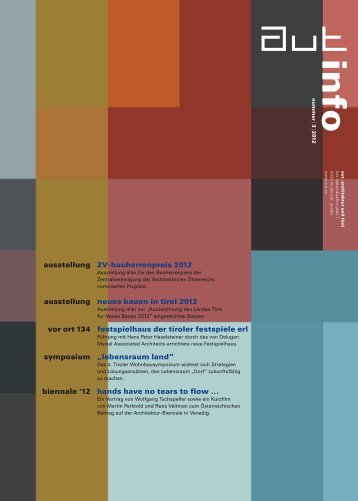 info 3/12 - aut. architektur und tirol