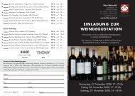 EinlAdunG zuR WEindEGuSTATiOn AUHOF - Ritter Weine AG