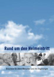 Rund um den Heimeintritt - Pro Senectute Kanton Bern - bei Pro ...