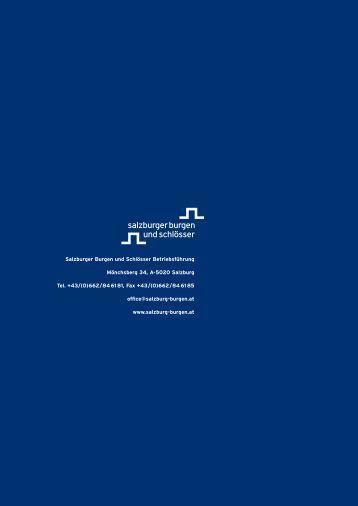 Gruppenprogramm 2013 zum Downloaden - Salzburgs Burgen und ...