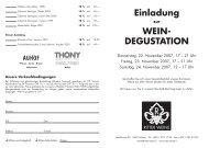 Einladung WEIN- DEGUSTATION - Ritter Weine AG