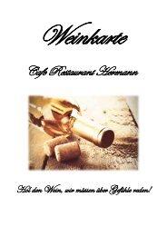 Weinkarte Restaurant Hermann