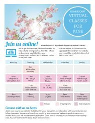 Dovercourt June 2020 virtual class flyer