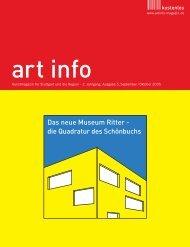 Das neue Museum Ritter - die Quadratur des Schönbuchs - art info