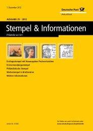 Ausgabe 25 - 2012 | 07. Dezember 2012 - Deutsche Post - Philatelie