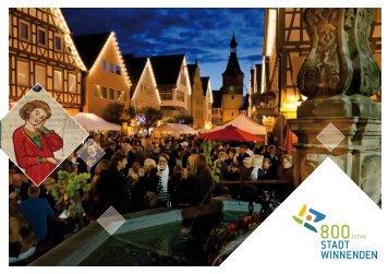 """Fest-Broschüre """"800 Jahre Stadt Winnenden"""""""
