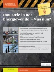 Industrie in der Energiewende – Was nun? - Ritter Gent Collegen