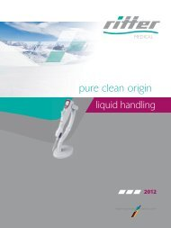 Unser neuer Gesamtprospekt Clinical Products zum ... - Ritter GmbH