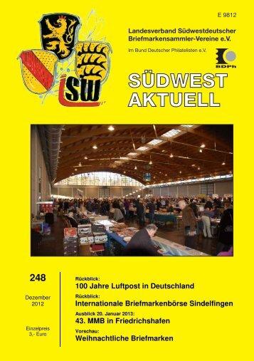 SWA 248 - Landesverband Südwestdeutscher Briefmarkensammler ...