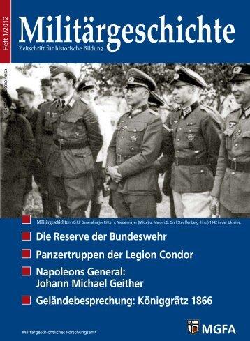 Die Reserve der Bundeswehr Panzertruppen der Legion ... - MGFA