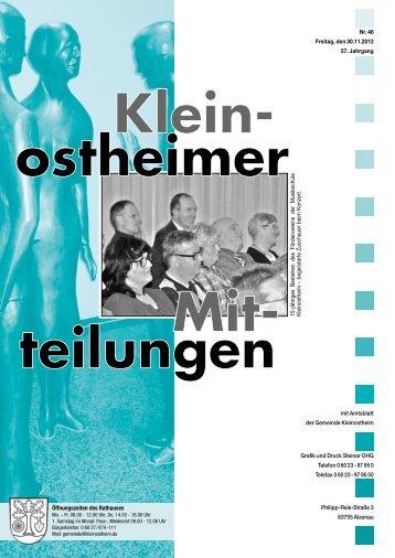 Grafik und Druck Steiner OHG Telefon 0 60 23 - 97 ... - Kleinostheim
