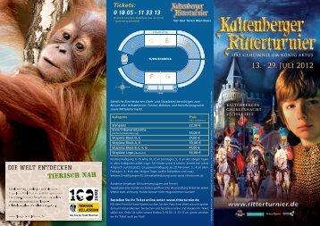 Tickets: 0 18 05 - Kaltenberger Ritterturnier