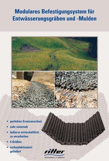 Modulares Befestigungssystem für Entwässerungsgräben und - Ritter