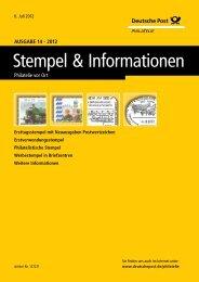 Ausgabe 14 - 2012 | 06. Juli 2012 - Deutsche Post - Philatelie