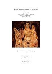 Dossier Egon Schiele Drei stehende Frauen - Leopold Museum