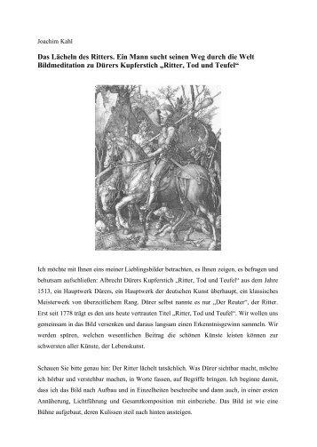 Das Lächeln des Ritters. Ein Mann sucht seinen - Joachim Kahl ...
