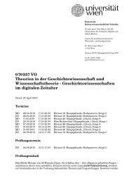 Geschichtswissenschaften im digitalen Zeitalter - weblog.hist.net