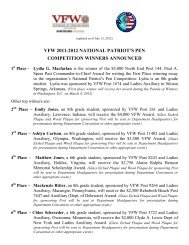 vfw 2011-2012 national patriot's pen competition winners announced