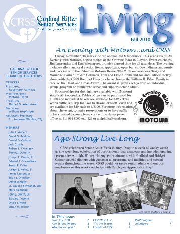 Age Strong Live Long - Cardinal Ritter Senior Services