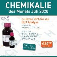 n-Hexan 95% für die EOX Analyse - Chemikalie des Monats