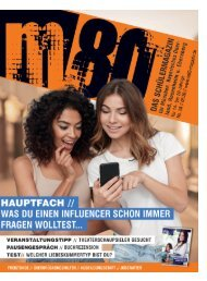 m80 Jugendmagazin Juni 2020