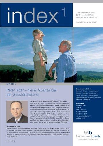 Peter Ritter – Neuer Vorsitzender der Geschäftsleitung - Clientis ...