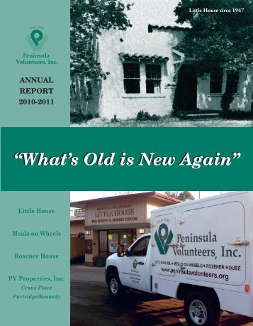 """What's Old is New Again"" - Peninsula Volunteers"