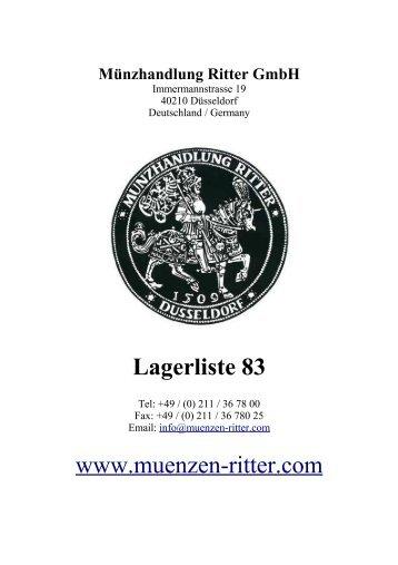 münzwaagen - Münzhandlung Ritter GmbH