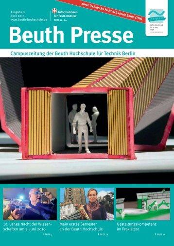 Beuth Presse 2-2010.indd - Beuth Hochschule für Technik Berlin