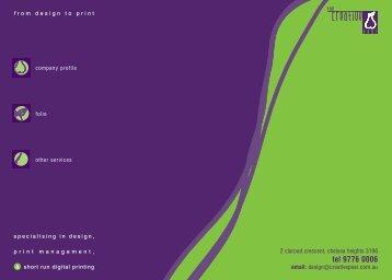 Company Profile - The Creative Pear