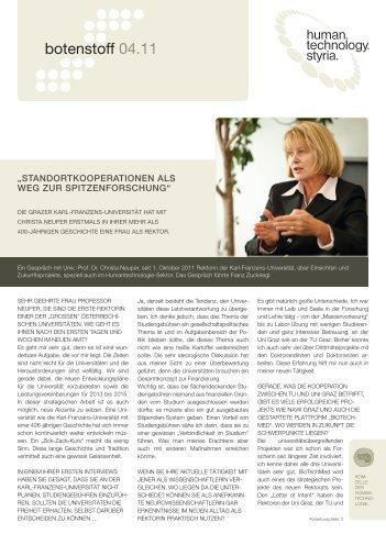 botenstoff 04.11 - Human.technology Styria GmbH