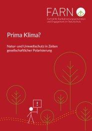 Prima Klima? Natur- und Umweltschutz in Zeiten gesellschaftlicher Polarisierung