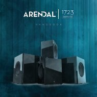 Arendal Sound 1723 Subwoofers - Handbook