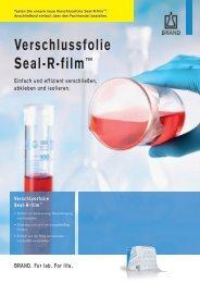 Aktion: Verschlussfolie Seal-R-film von Brand