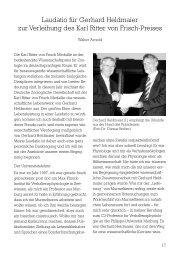 Laudatio: Karl Ritter von Frisch-Preis an Gerhard - Deutsche ...